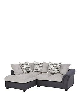 Very Quartz Fabric Compact Left Hand Scatter Back Corner Chaise Sofa Picture
