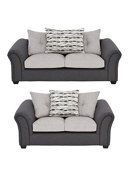 Very Quartz Fabric Standard 3 Seater + 2 Seater Scatter Back Compact Sofa  ... Picture