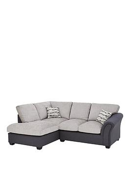Very Quartz Fabric Compact Left Hand Standard Back Corner Chaise Sofa Picture