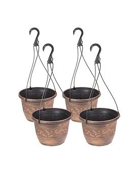 Very Set Of 4 Acorn Hanging Baskets 10 Picture