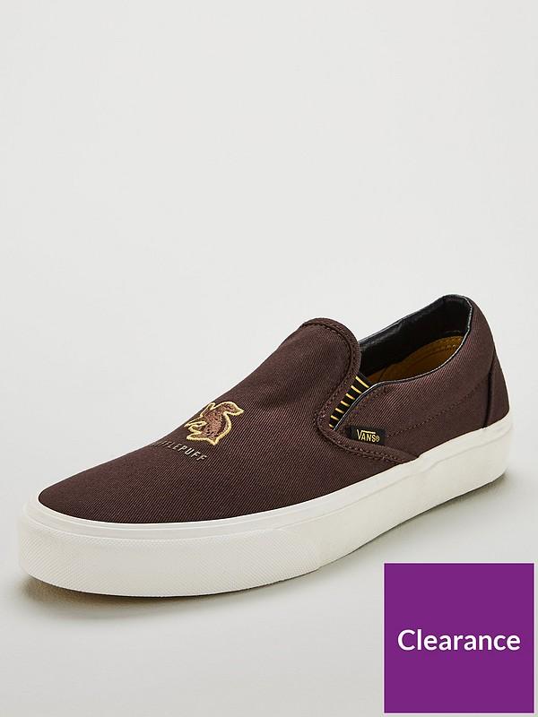 Harry Potter Slip On Hufflepuff Skate Shoes Brown