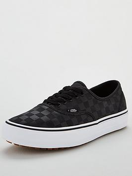 vans-authentic-checkerboard-plimsolls-blacknbsp