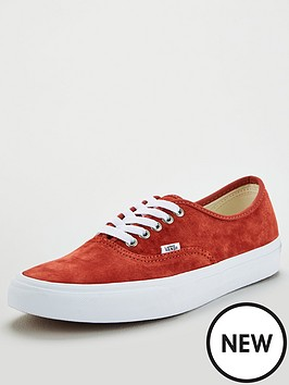 vans-authentic-plimsolls-redwhite