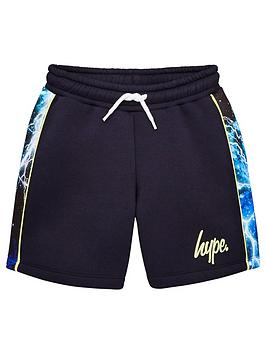 hype-boys-lightening-panel-jog-shorts-navy
