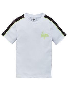 hype-boys-contrast-shoulder-short-sleeve-t-shirt-white