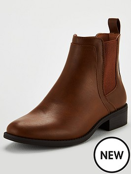 v-by-very-frankie-flat-chelsea-boots-tan