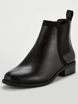 V by Very V By Very Wide Fit Frankie Flat Chelsea Boots - Black Picture