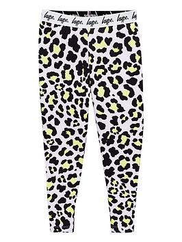 hype-girls-leopardnbspprint-waistband-leggings-pinkblack