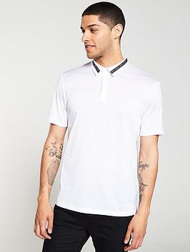 hugo-divorno-tape-logo-polo-shirt-white