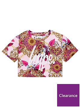 hype-girls-brocade-cropped-t-shirt-pink