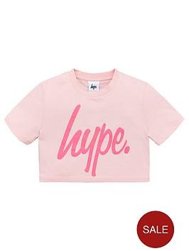 hype-girls-cropped-script-t-shirt-pink