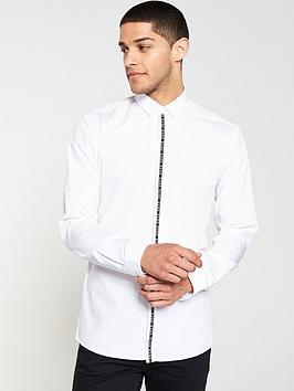 hugo-ed-long-sleeve-tape-logo-shirt-white