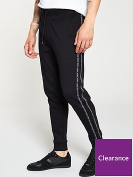 hugo-drapani-tape-jogging-bottoms-black