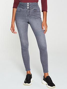 V by Very V By Very Macy High Waist Skinny Jean - Grey Picture