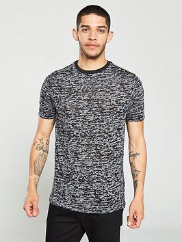 River Island River Island Dark Grey Print Slim Fit T-Shirt Picture