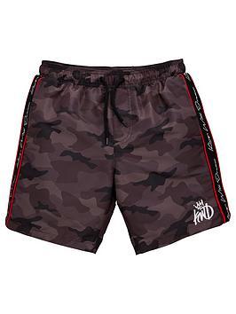 kings-will-dream-boys-marden-camo-swim-shorts-black