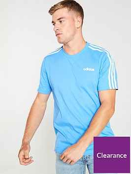 adidas-3-stripe-t-shirt-blue