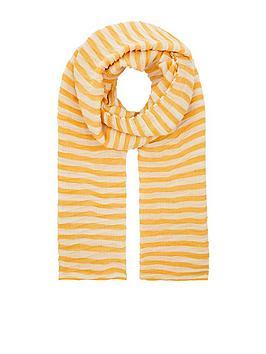 accessorize-pleated-stripe-scarf-yellow