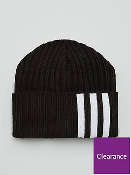 adidas-3-stripenbspwoolie-beanie-hat-black