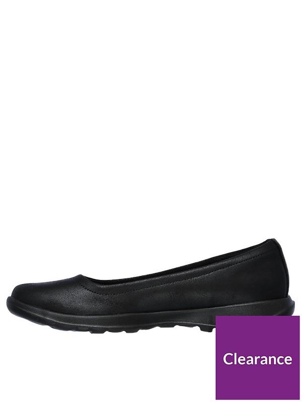 skechers gowalk lite gem ballerina shoes black