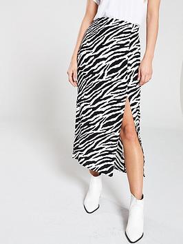miss-selfridge-zebra-column-skirt