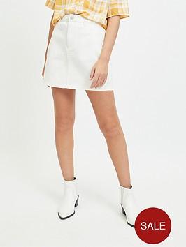 miss-selfridge-miss-selfridge-petite-ecru-denim-mini-skirt