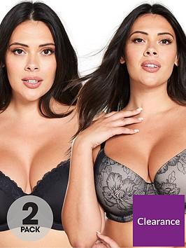 dorina-curves-billie-2-pack-t-shirt-bra-black