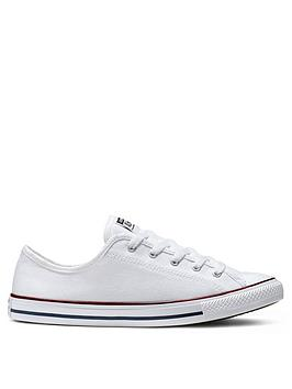 Converse Converse Chuck Taylor All Star Dainty Canvas Ox Plimsolls - White Picture