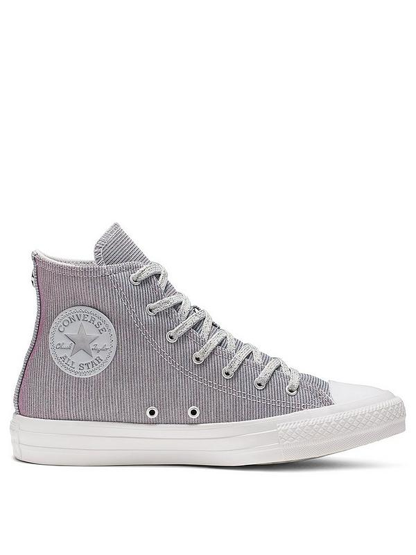 Chuck Taylor All Star Starware Sparkle Hi Top Plimsolls SilverBlue