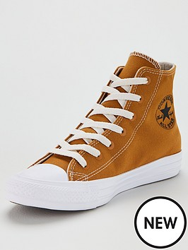 6ff57f128837 Converse Chuck Taylor All Star Renew Recycle Hi-Tops - Mustard/White ...