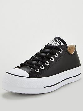 Converse Converse Chuck Taylor All Star Platform Lift Clean Leather Ox -  ... Picture