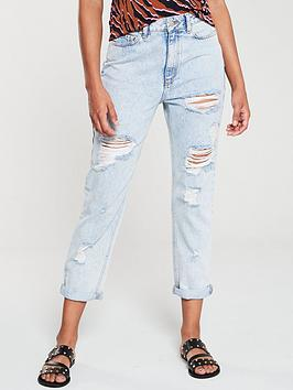 v-by-very-distressed-mom-jean-jean-light-wash
