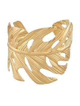 accessorize-leaf-wrap-cuff-gold