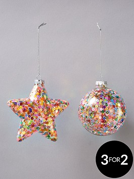 sass-belle-sequin-covered-glass-christmas-tree-baubles-set-of-2