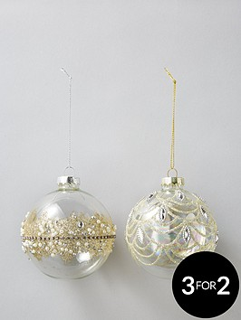 sass-belle-set-of-2-gold-embellished-glass-baubles