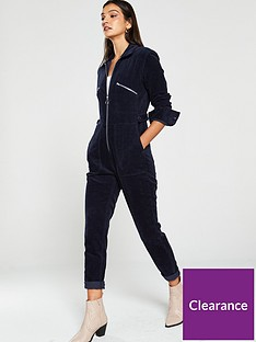 v-by-very-zip-detail-cord-jumpsuit-navy