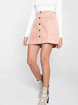 v-by-very-cord-button-through-mini-skirt-dusty-pink