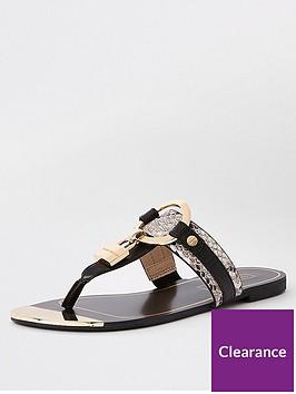 river-island-padlock-toe-sandals-black