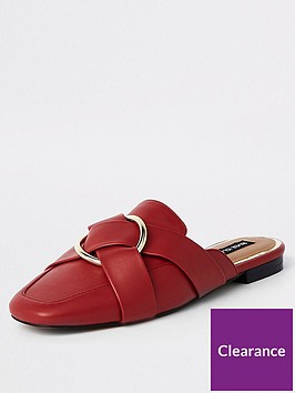 river-island-river-island-wide-fit-backless-loafer-red