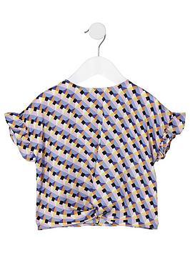 river-island-mini-mini-girls-geo-print-twist-front-t-shirt-navy