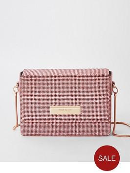 river-island-heatseal-boxy-bag-pink