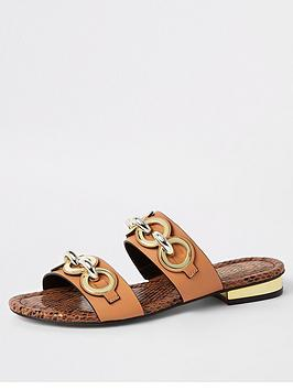 river-island-river-island-chain-double-strap-sandal-tan