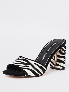 river-island-river-island-printed-mule-heel-sandals-zebra