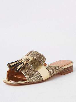 river-island-river-island-peep-toe-tassel-sandals-gold
