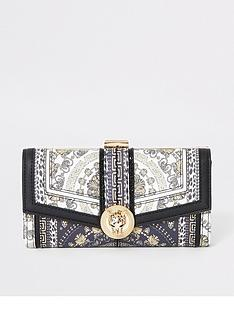 river-island-river-island-pattern-cliptop-purse-black-print