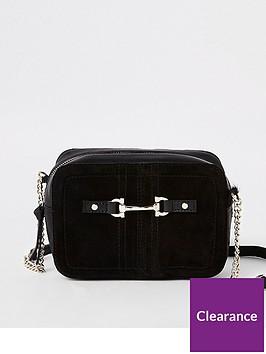 river-island-river-island-suede-leather-mini-cross-body-bag-black