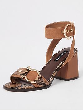 river-island-river-island-snake-print-block-heel-sandal-tan