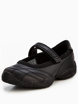 Skechers Skechers Girls Velocity Mary Jane School Shoes - Black Picture