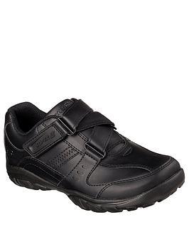 Skechers Skechers Lightweight Grambler Strap School Shoes - Black Picture