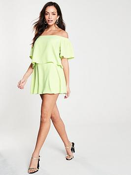 river-island-layered-playsuit--lime
